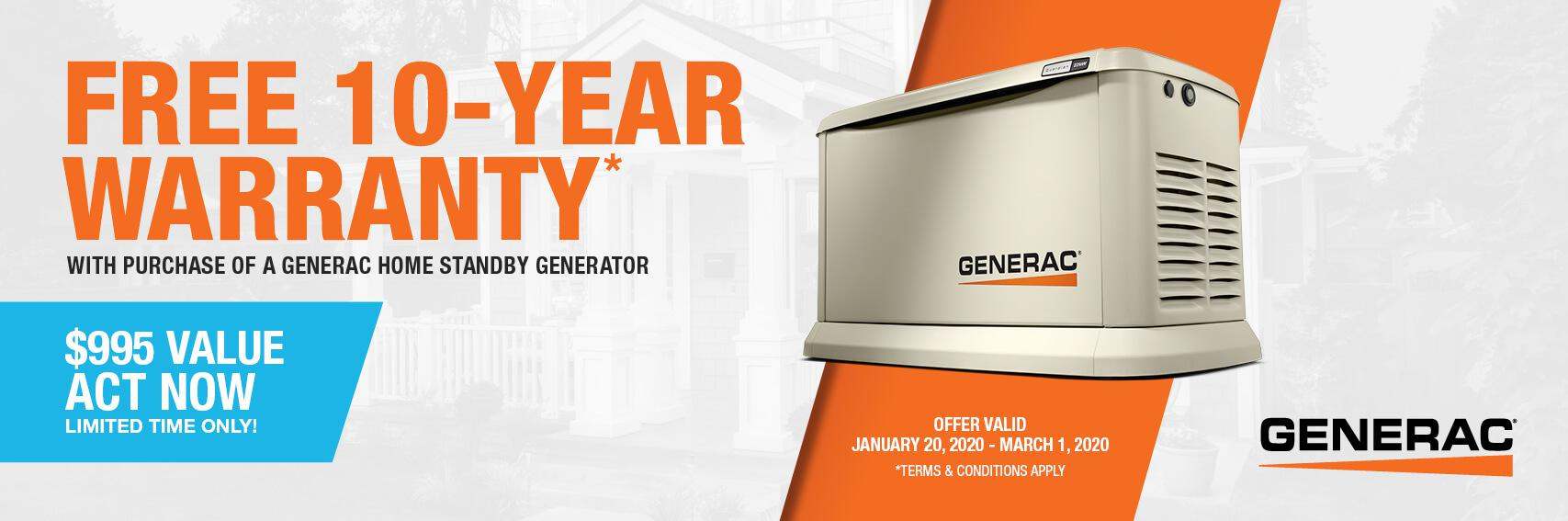 Homestandby Generator Deal | Warranty Offer | Generac Dealer | Norwalk, OH